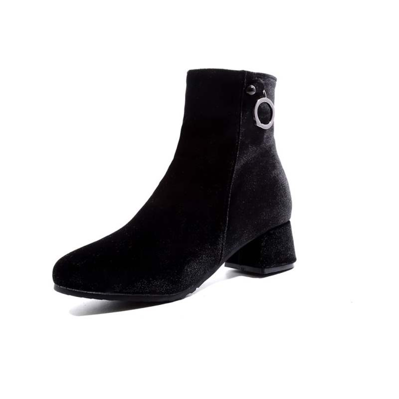 Ericdress Plain Round Toe Short Floss Women's Ankle Boots