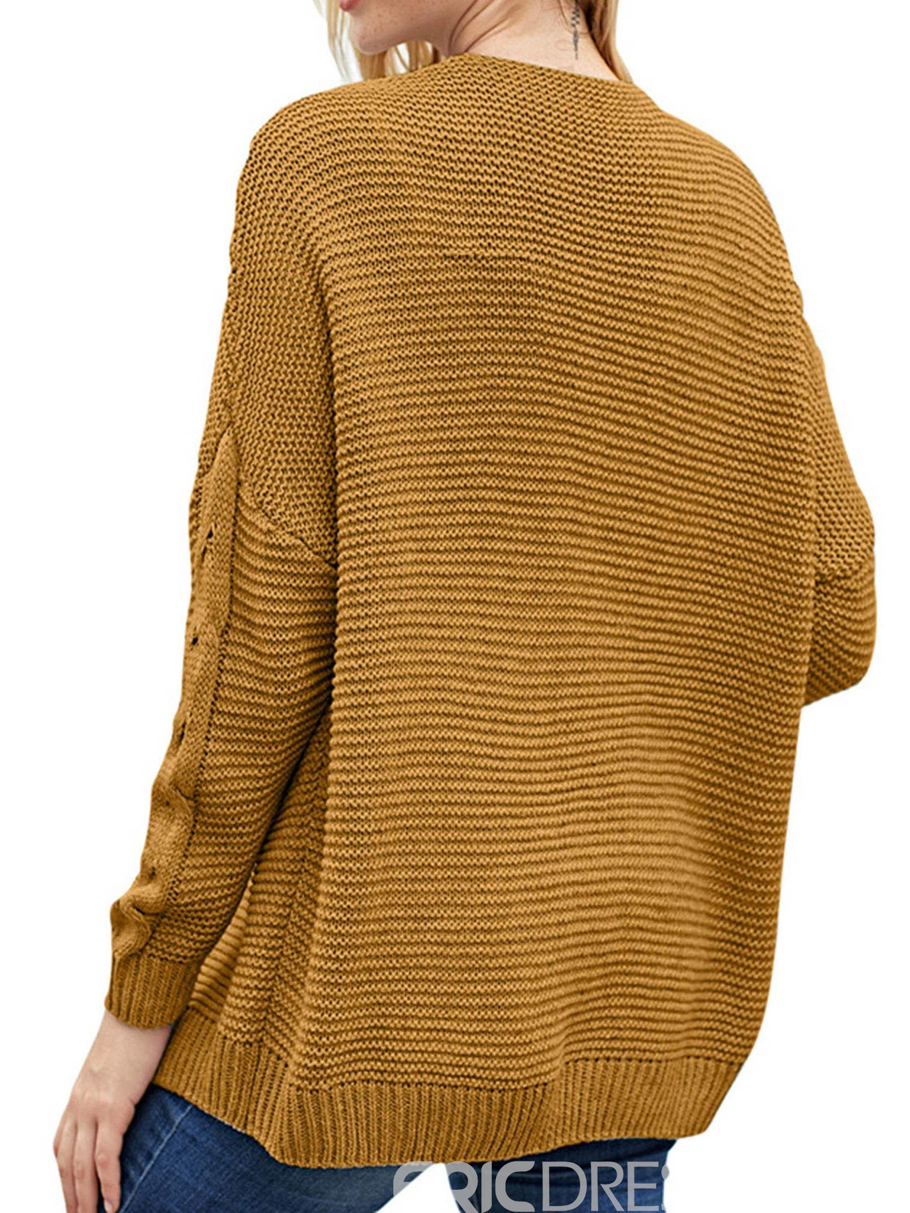 Ericdress Regular Casual Loose Mid-Length Sweaters