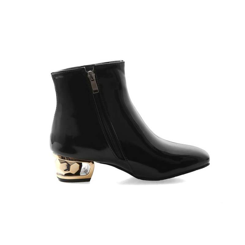Ericdress Chunky Heel Round Toe Women's Ankle Boots