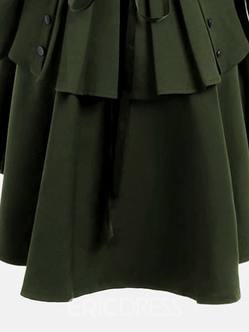 Ericdress Single-Breasted Long Fall Long Sleeve Trench Coats