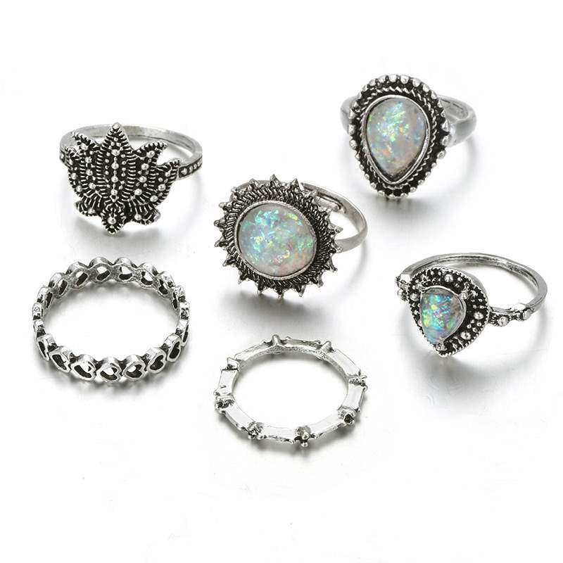 Ericdress Retro Round Opal Lady Ring