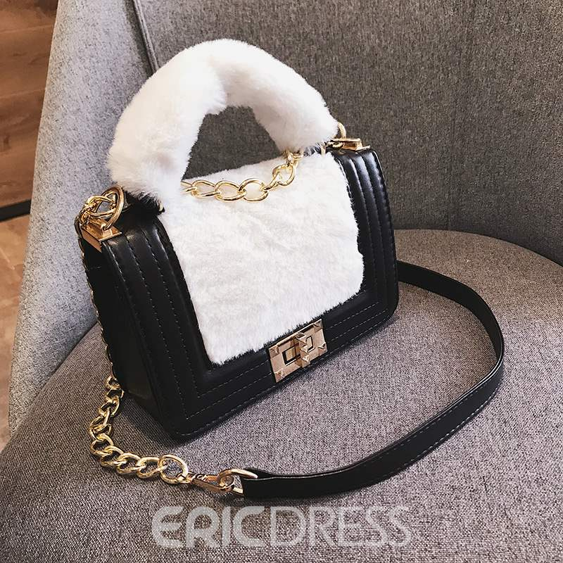 Ericdress PU Patchwork Flap Tote Bags