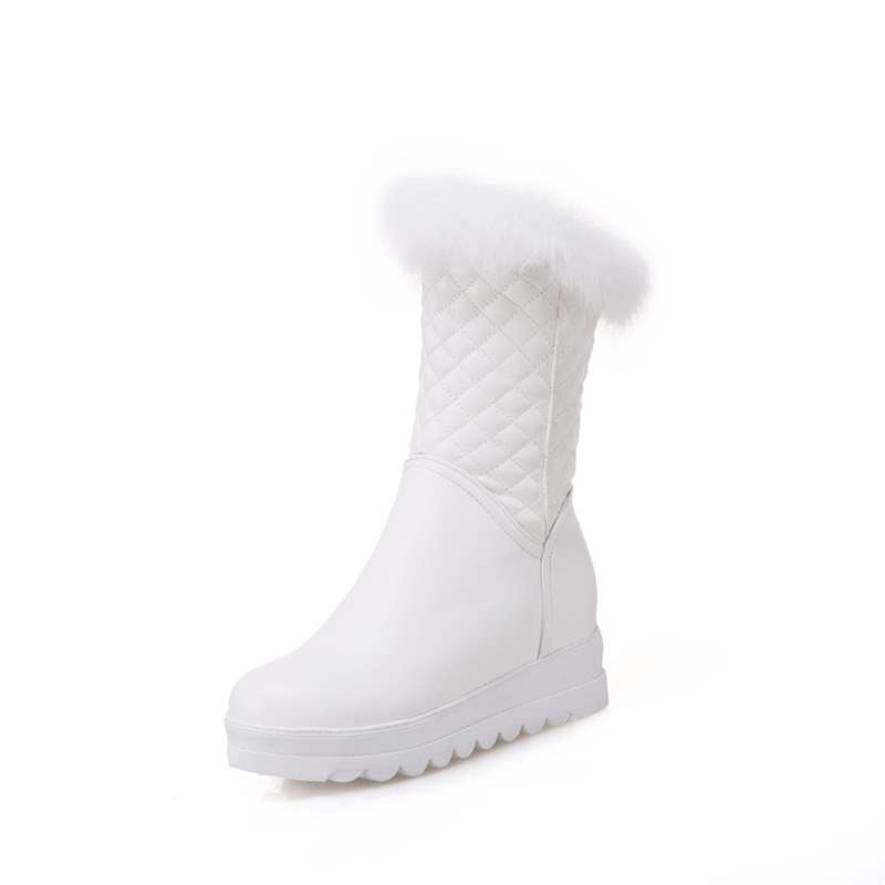 Ericdress Plain Round Toe Short Floss Women's Snow Boots