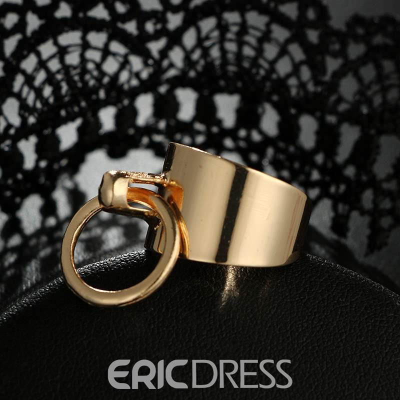 Ericdress Retro Round Love Lady Ring