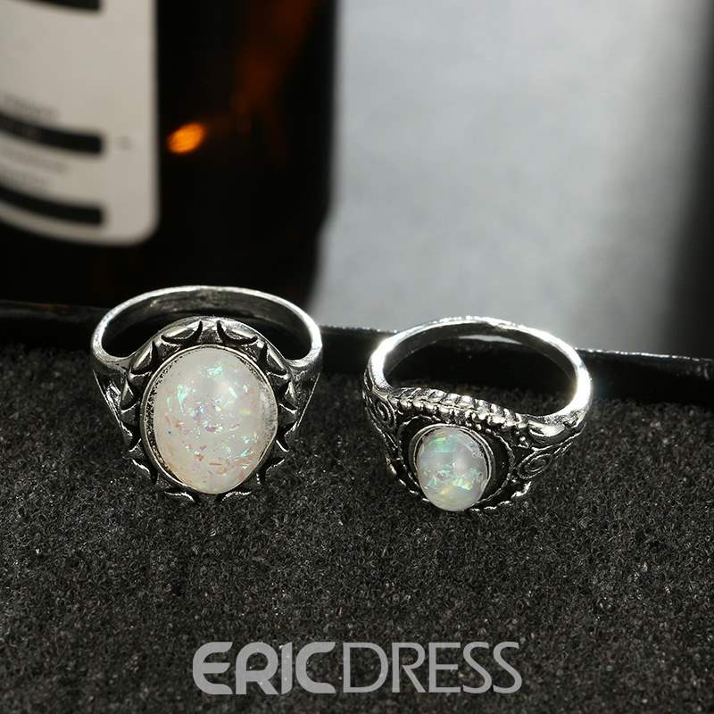 Ericdress Retro Opal Gorgeous Lady Ring