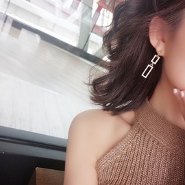 Ericdress Rectangle Diamante New Style Fashion Earrings For Women