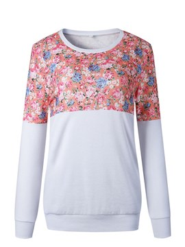 Ericdress Casual Floral Print Long Sleeve Womens T Shirt
