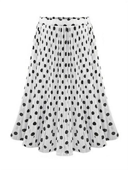 Ericdress Polka Dots Mesh A-Line Women's Skirt