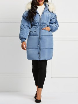 Ericdress Zipper Zipper Loose Mid-Length Down Coat