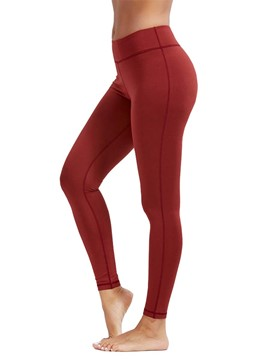 Ericdress Breathable Solid Plain Sports Leggings Yoga Pants High Waist Tiktok Leggings