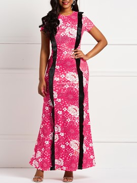 Ericdress Pullover Floor-Length Floral Print Women's Dresses