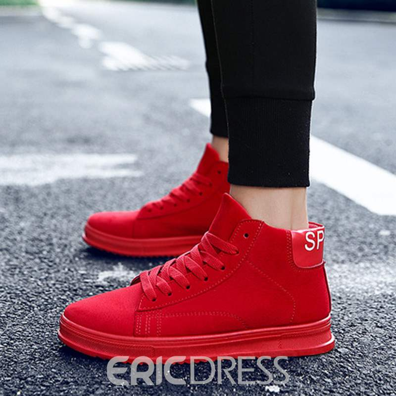 Ericdress Lace-Up High-Cut Upper Round Toe Men's Skate Shoes