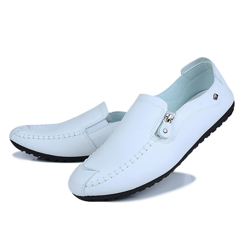 Ericdress Zipper Plain Low-Cut Upper Men's Casual Shoes