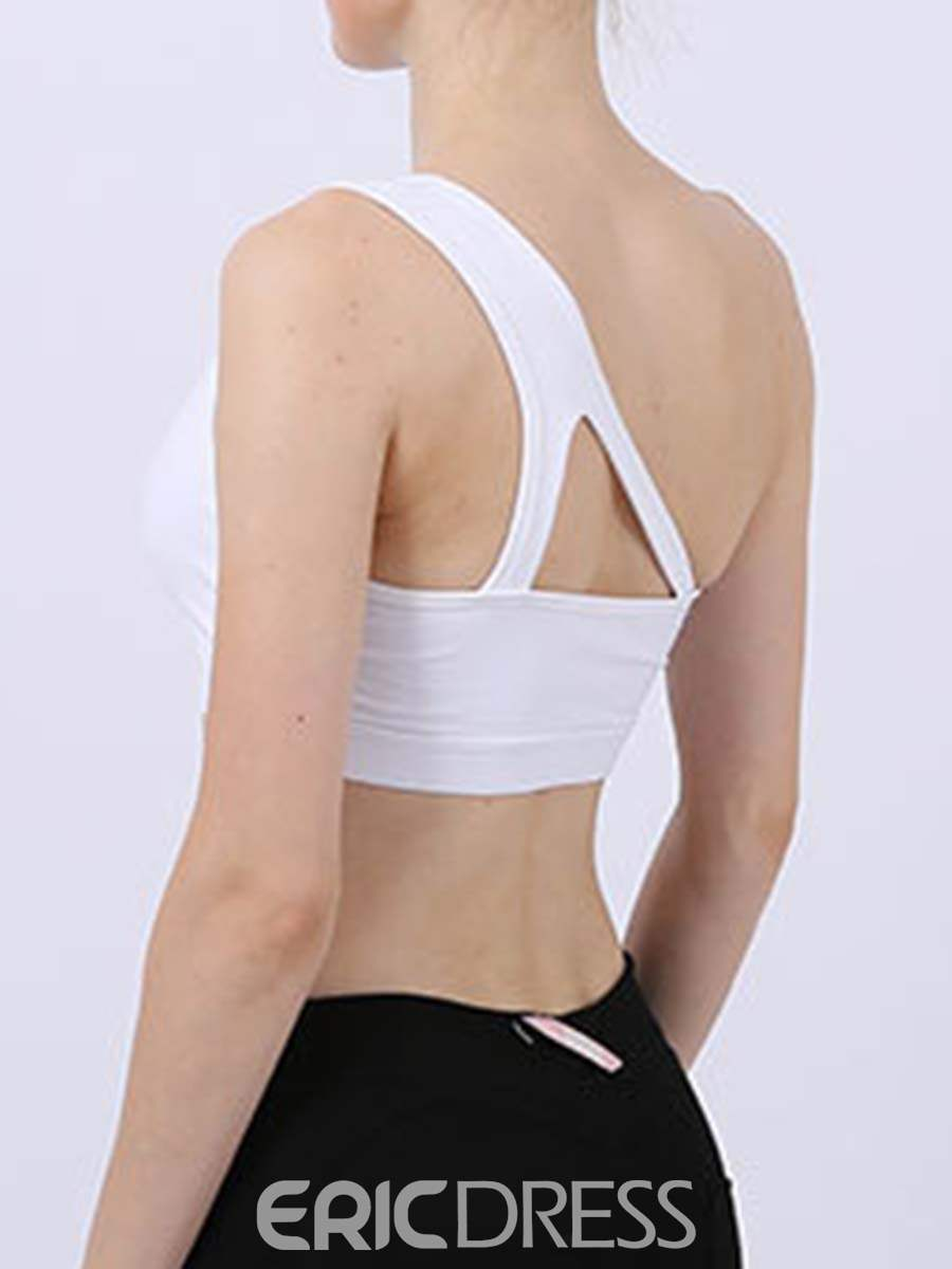 Ericdress Plain Non-Adjusted Straps Breathable Free Wire Sports Bras
