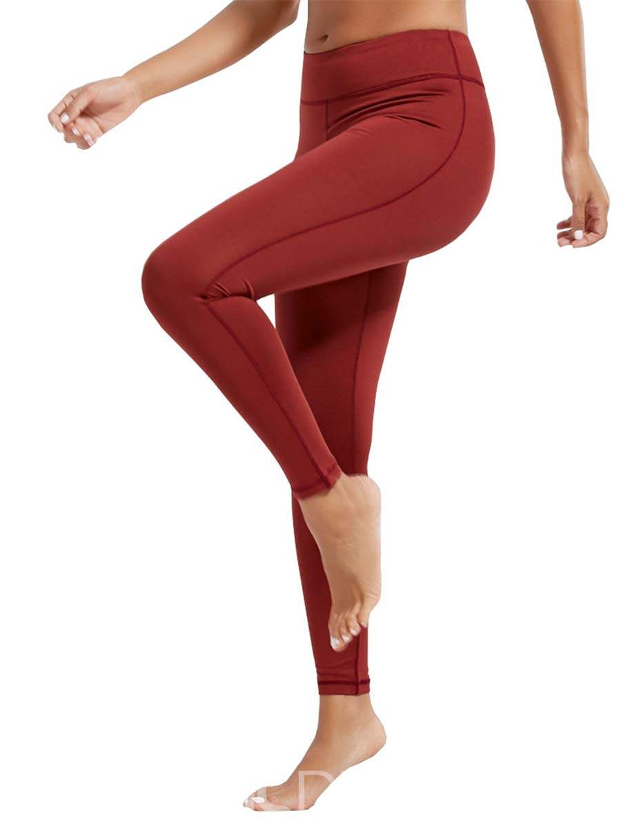 Ericdress Breathable Solid Plain Sports Leggings