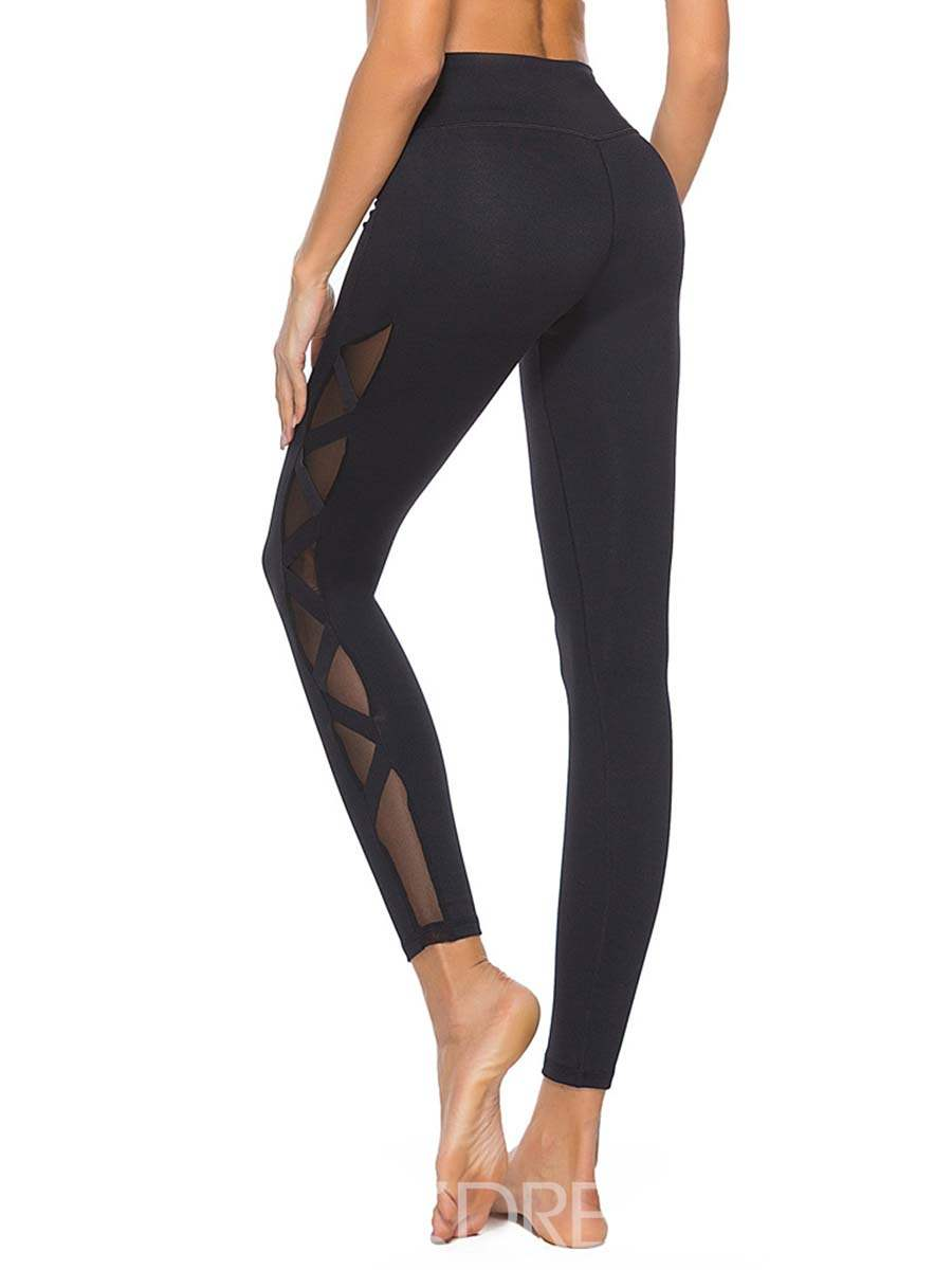 Ericdress Breathable Mesh Patchwork Solid Ping-Pong Pants