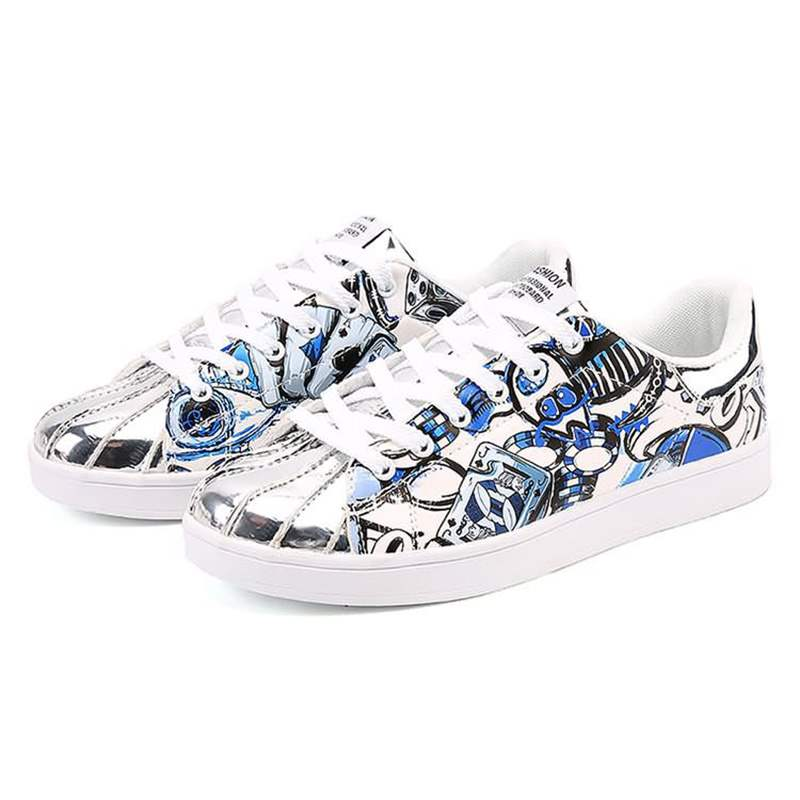 Ericdress Print Low-Cut Upper Round Toe Men's Skate Shoes