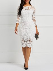 Ericdress Lace Fabric Bodycon Knee-Length Sexy Dress фото