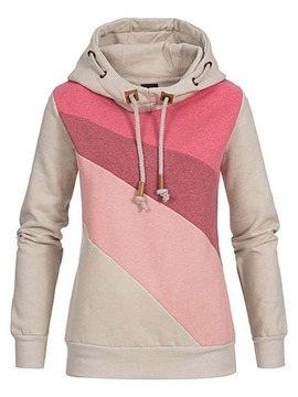 Ericdress Color Block Regular Standard Hooded Hoodie