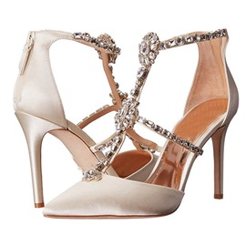 Ericdress Rhinestone Silk Fabric Stiletto Heel Wedding Shoes