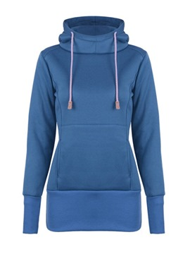 Ericdress Flocking Regular Plain Mid-Length Hooded Hoodie