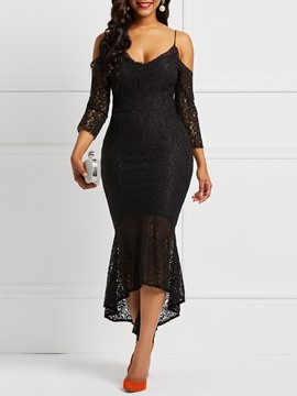 Ericdress Spaghetti Strap Lace Mermaid Sexy Dress