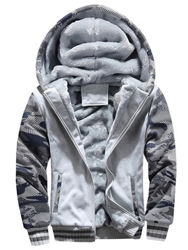 Ericdress Camouflage Fleece Mens Casual Sports Hoodies