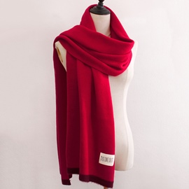 Ericdress Double Color Brim Warm Scarf