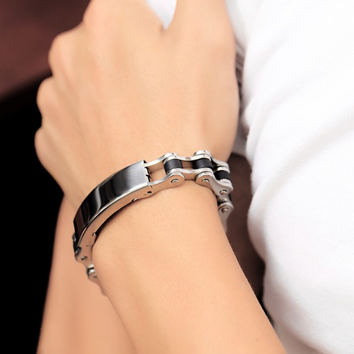 Ericdress Stainless Steel Hollow Out Men's Bracelet