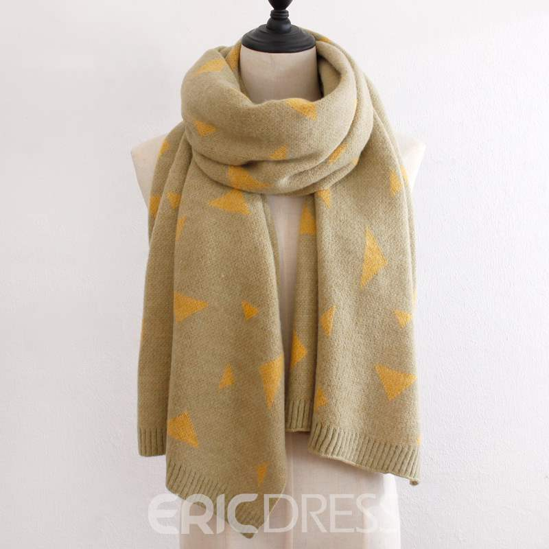 Ericdress Triangle Pattern Warm Winter Scarf