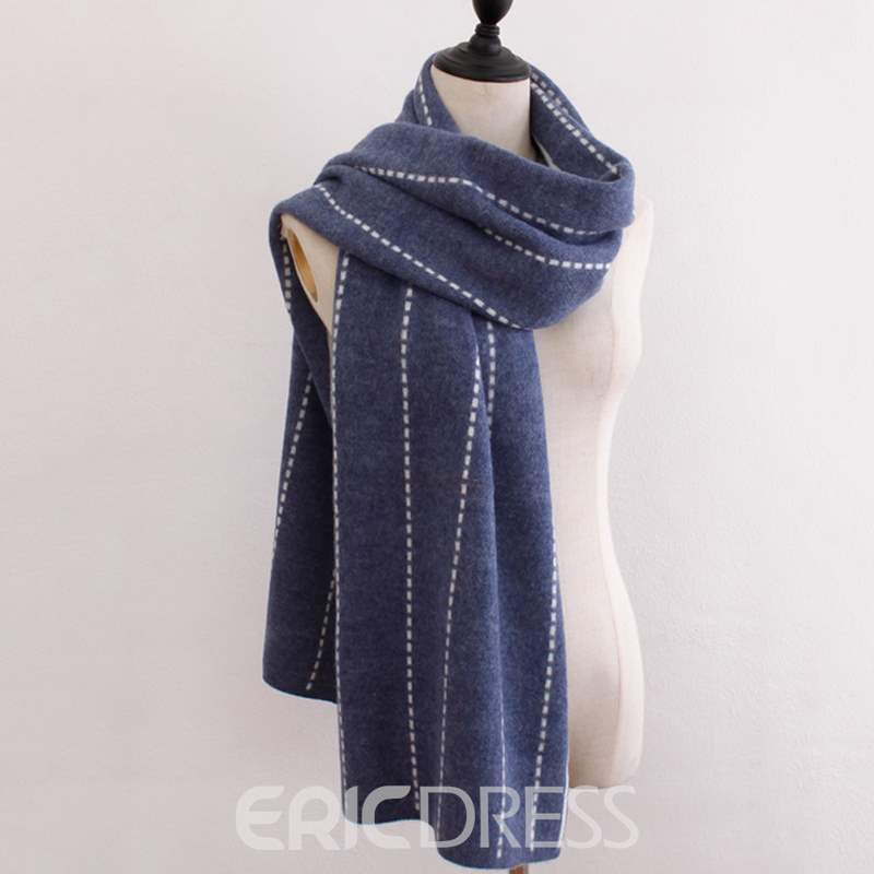 Ericdress Pure Color Imaginary Line Warm Scarf