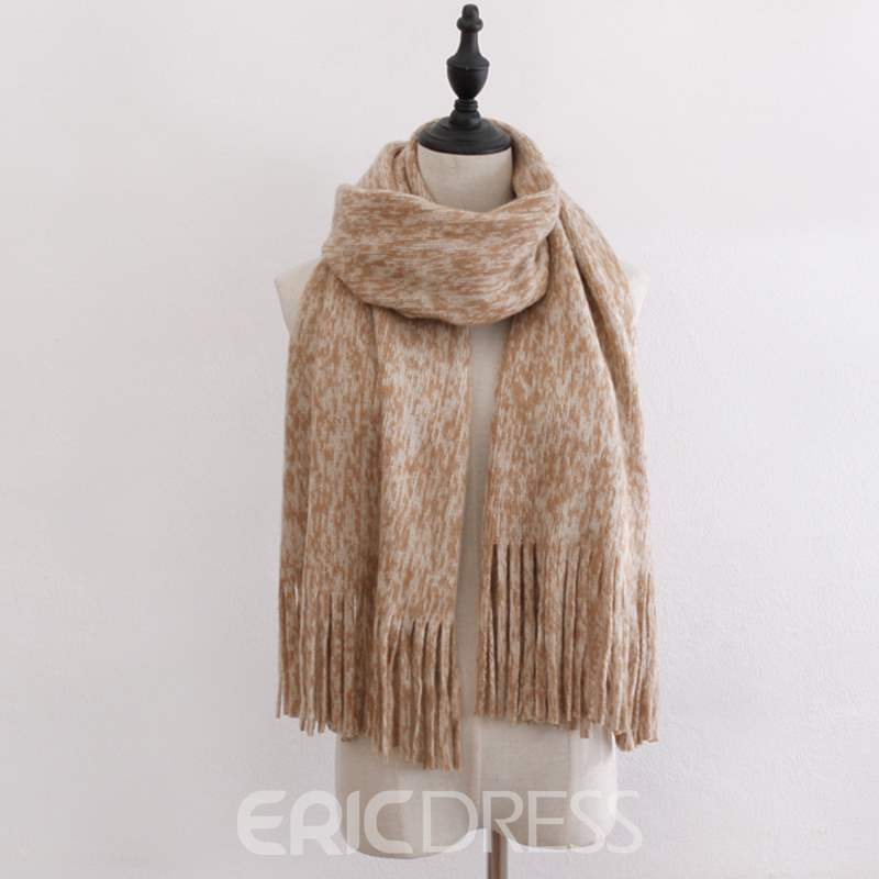 Ericdress Knit Tassels Warm Scarf