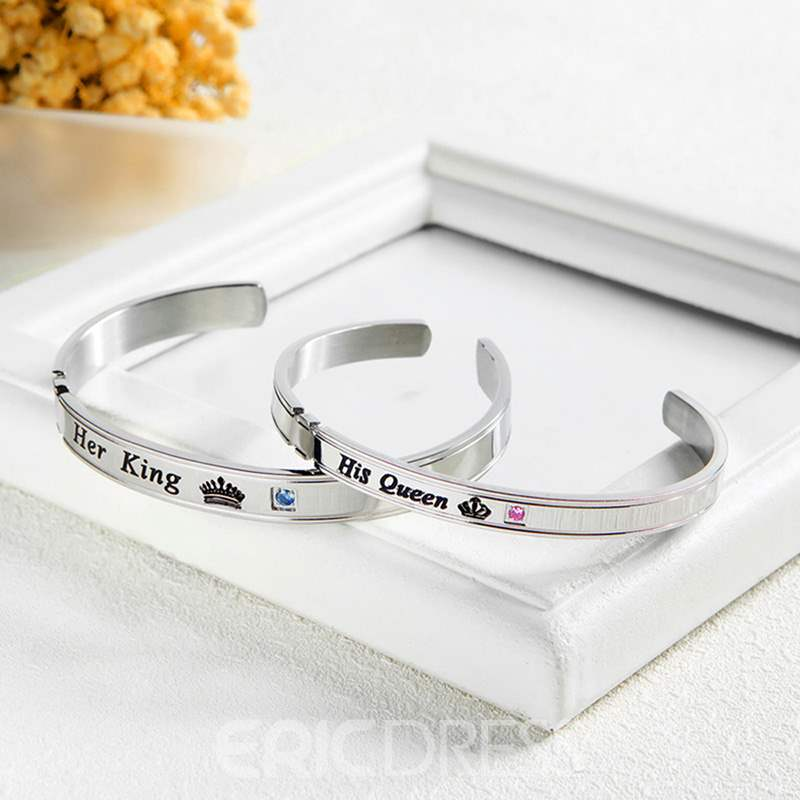 Ericdress Love Lettering Men's Bracelet