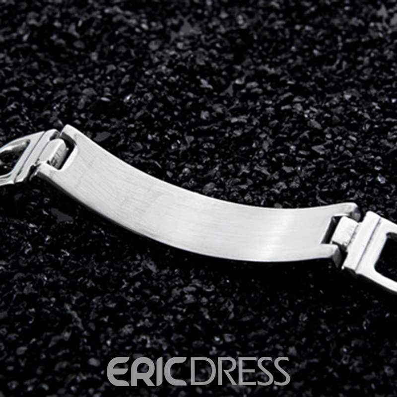 Ericdress Exquisite Titanium Steel Men's Bracelet