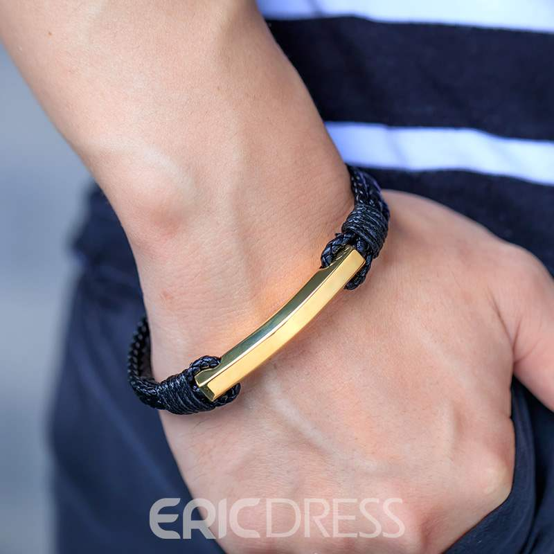 Ericdress Leather Men's Bracelet