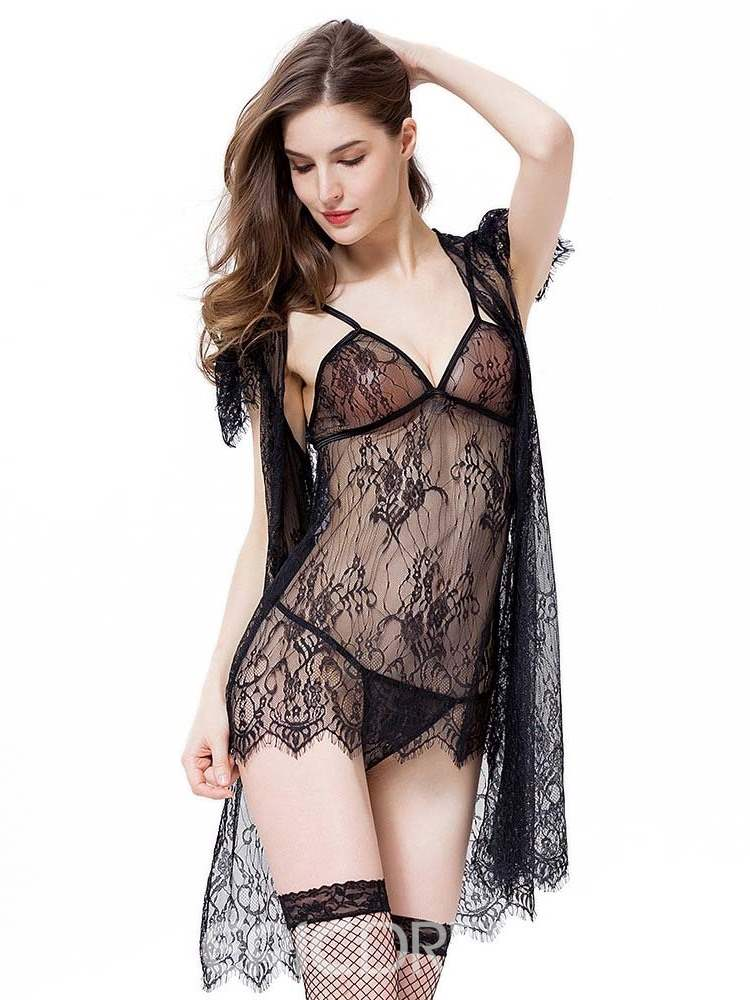 Ericdress Lace See through Sexy Babydoll