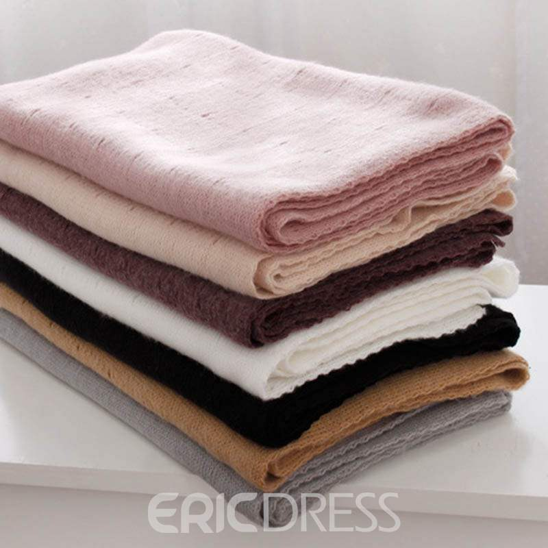 Ericdress Pure Color Hollow Out Warm Scarf