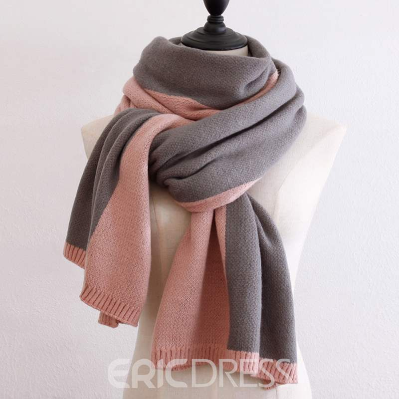 Ericdress Double Side Colour Warm Winter Scarf