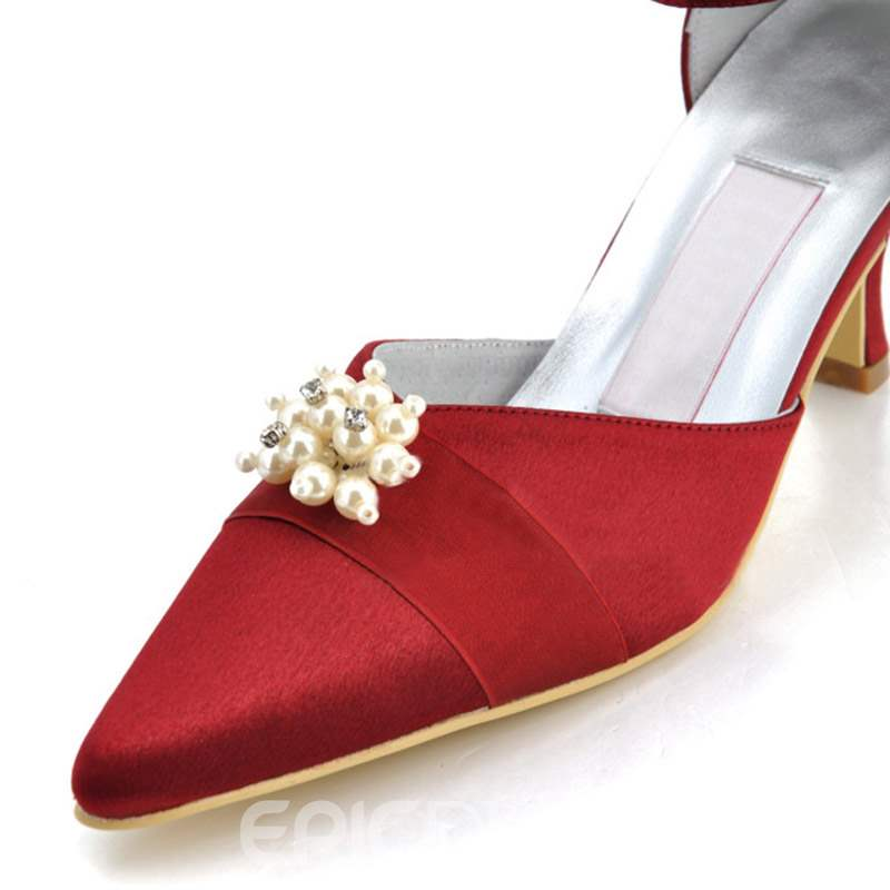 Ericdress Rhinestone Line-Style Pointed Toe Wedding Shoes