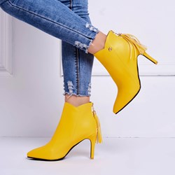 Ericdress Tassel Pointed Toe Plain High Heel Boots фото