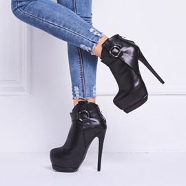 Ericdress Modern Black Ultra-high Boots