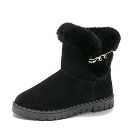 Ericdress Purfle Slip-On Round Toe Women's Snow Boots