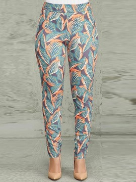 Ericdress Slim Color Block Print High-Waist Pencil Pants