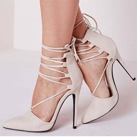Ericdress Plain Pointed Toe Stiletto Heel Women's Shoes
