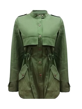Ericdress Mid-Length Single-Breasted Stand Collar Long Sleeve Fall Trench Coat