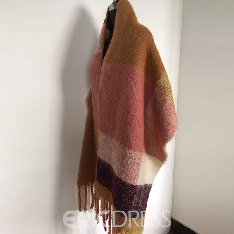 Ericdress Grid Pattern Winter Scarf