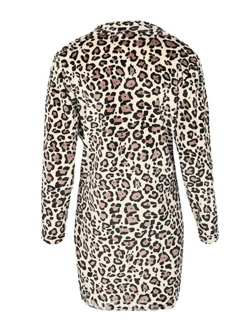 Ericdress Print Slim Mid-Length Winter Overcoat