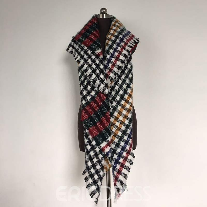 Ericdress Houndstooth Pattern Winter Scarf