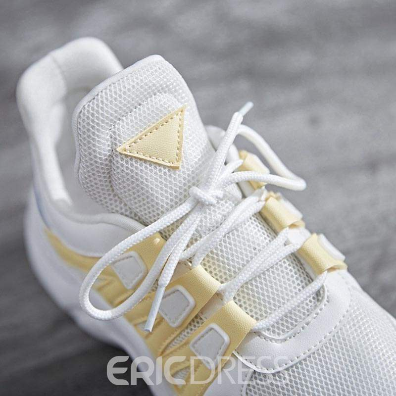 Ericdress Patchwork Low-Cut Upper Lace-Up Women's Sneakers