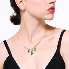 Ericdress Water Drop Retro Necklace